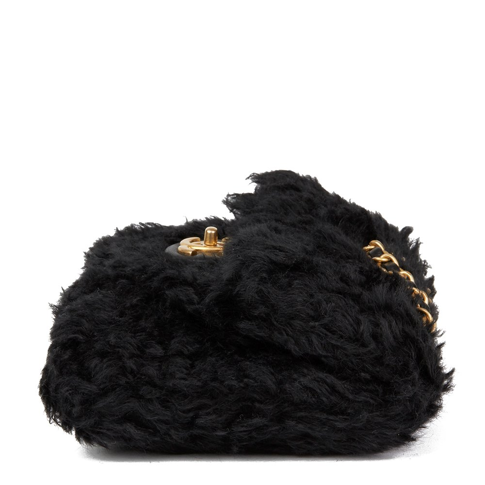 1b7a45d8856d Chanel Black Fantasy Fur Classic Foldover Flap Bag