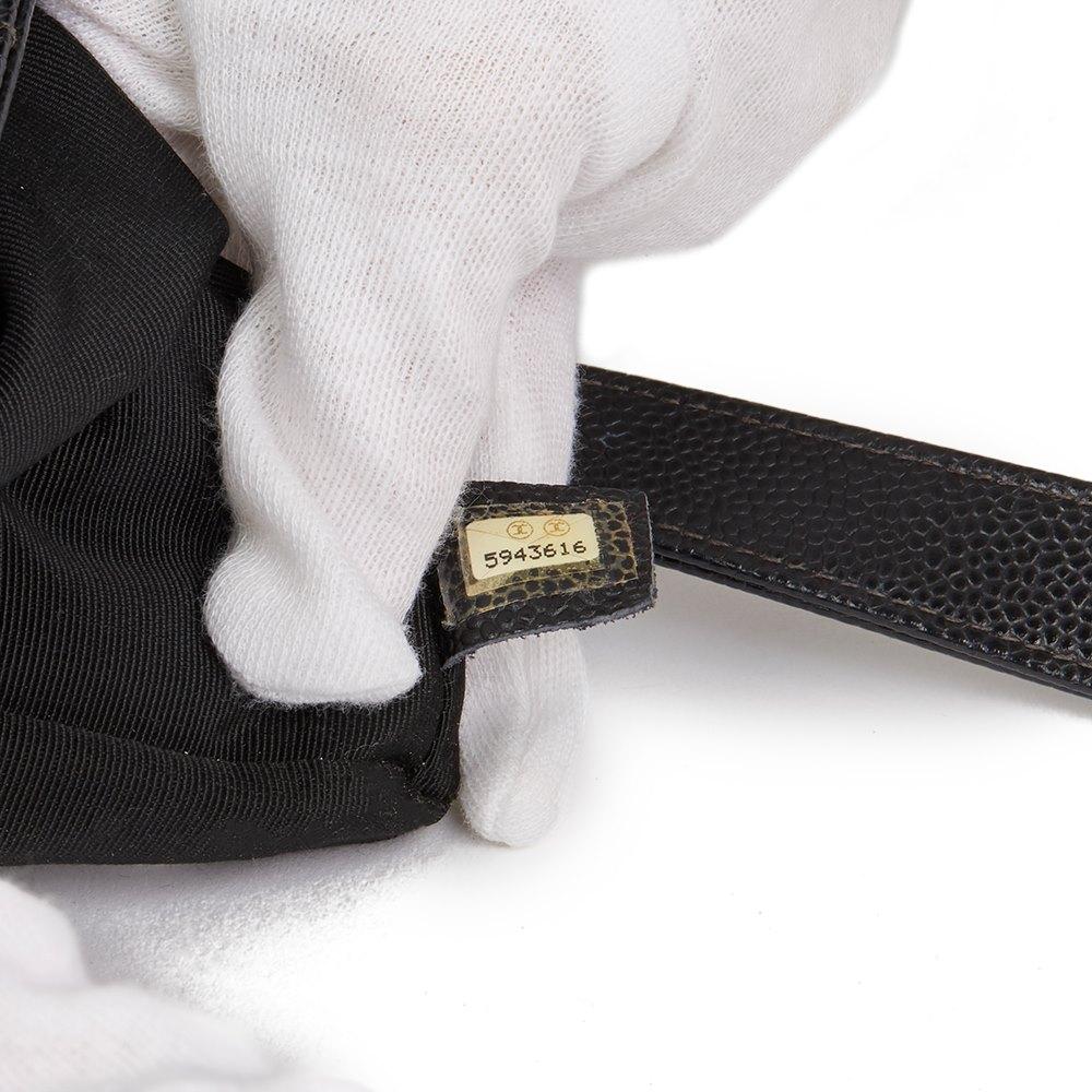 Chanel Black Quilted Caviar Leather Vintage Classic Shoulder Bag