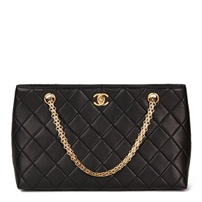 Chanel Black Quilted Lambskin Classic Shoulder Bag