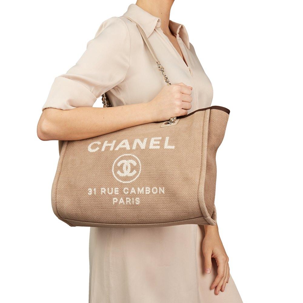 dc06e51b3021 Chanel Small Deauville Tote 2012 HB2416 | Second Hand Handbags