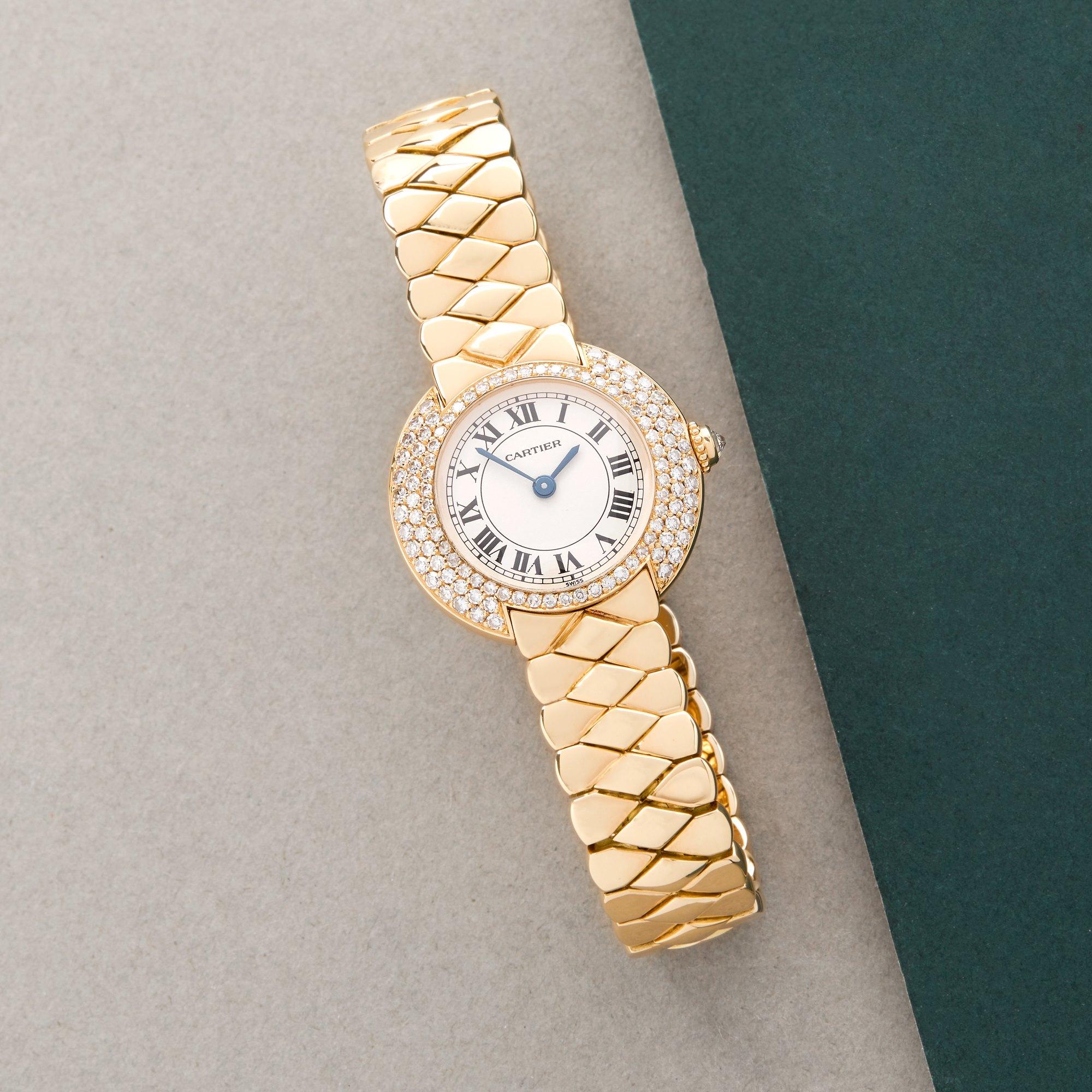 Cartier Vendome Diamond 18K Yellow Gold W15071G8 or 1292