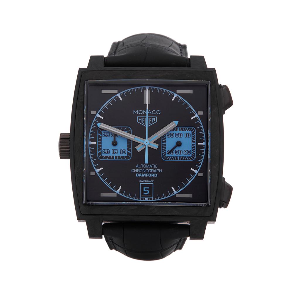 1d693e6848a Detalles acerca de TAG HEUER Monaco Bamford Reloj de carbono CAW2190  COM1997- mostrar título original