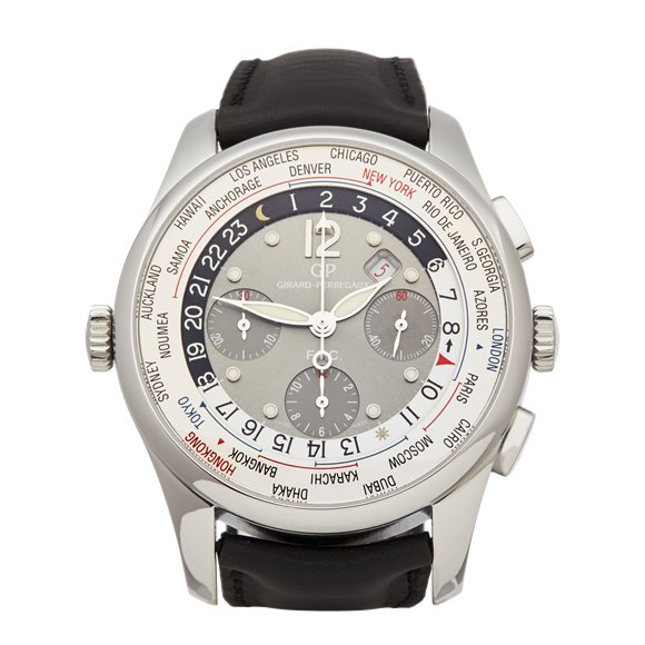 Girard Perregaux WW.TC Ftc World Time  Chronograph Stainless Steel - 49805