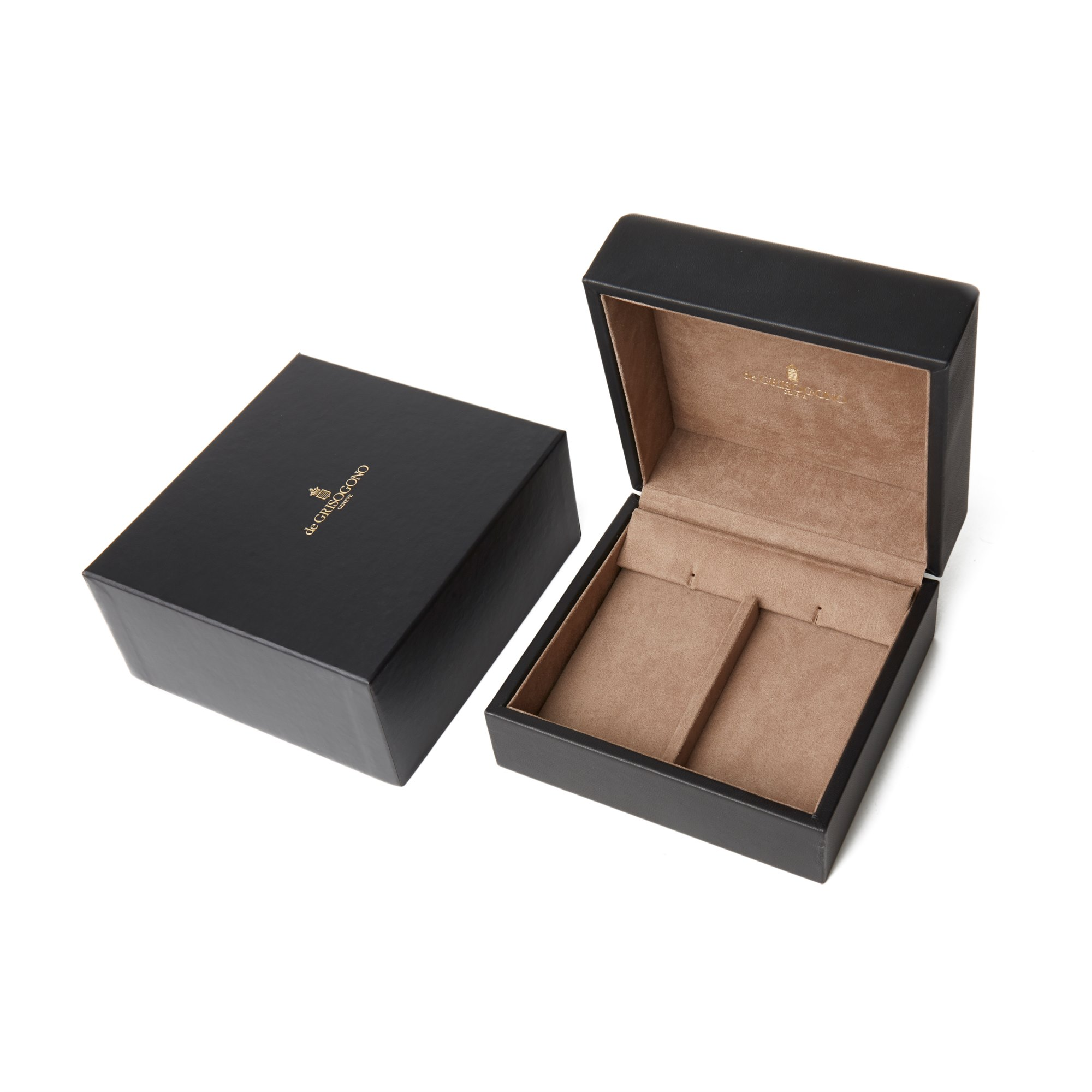 De Grisogono 18k White Gold Diamond & Emerald Drop Catene Earrings