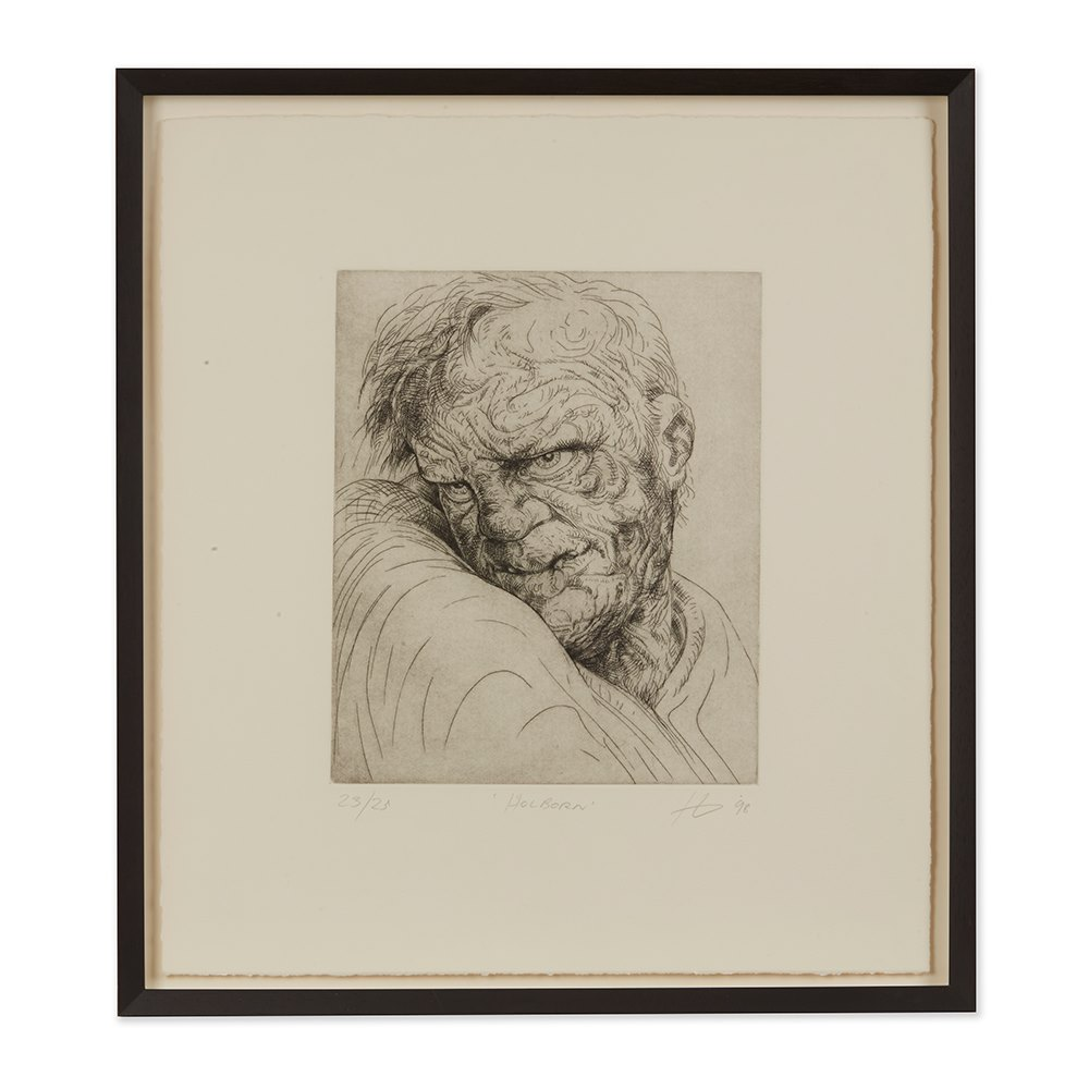 PETER HOWSON UNDERGROUND SERIES FRAMED HOLBORN PRINT 1998 Dated 1998