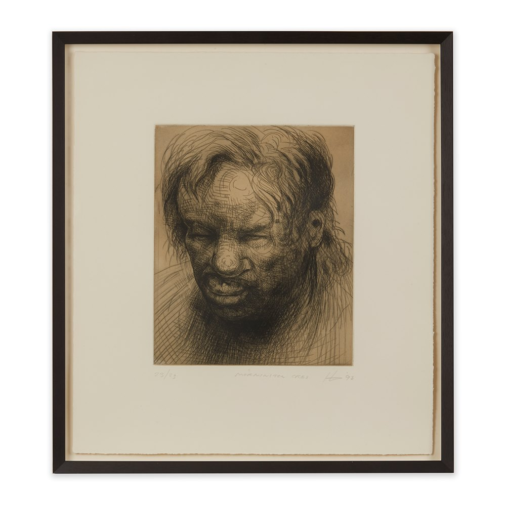 PETER HOWSON UNDERGROUND SERIES MORNINGTON CRES PRINT 1998 Dated 1998