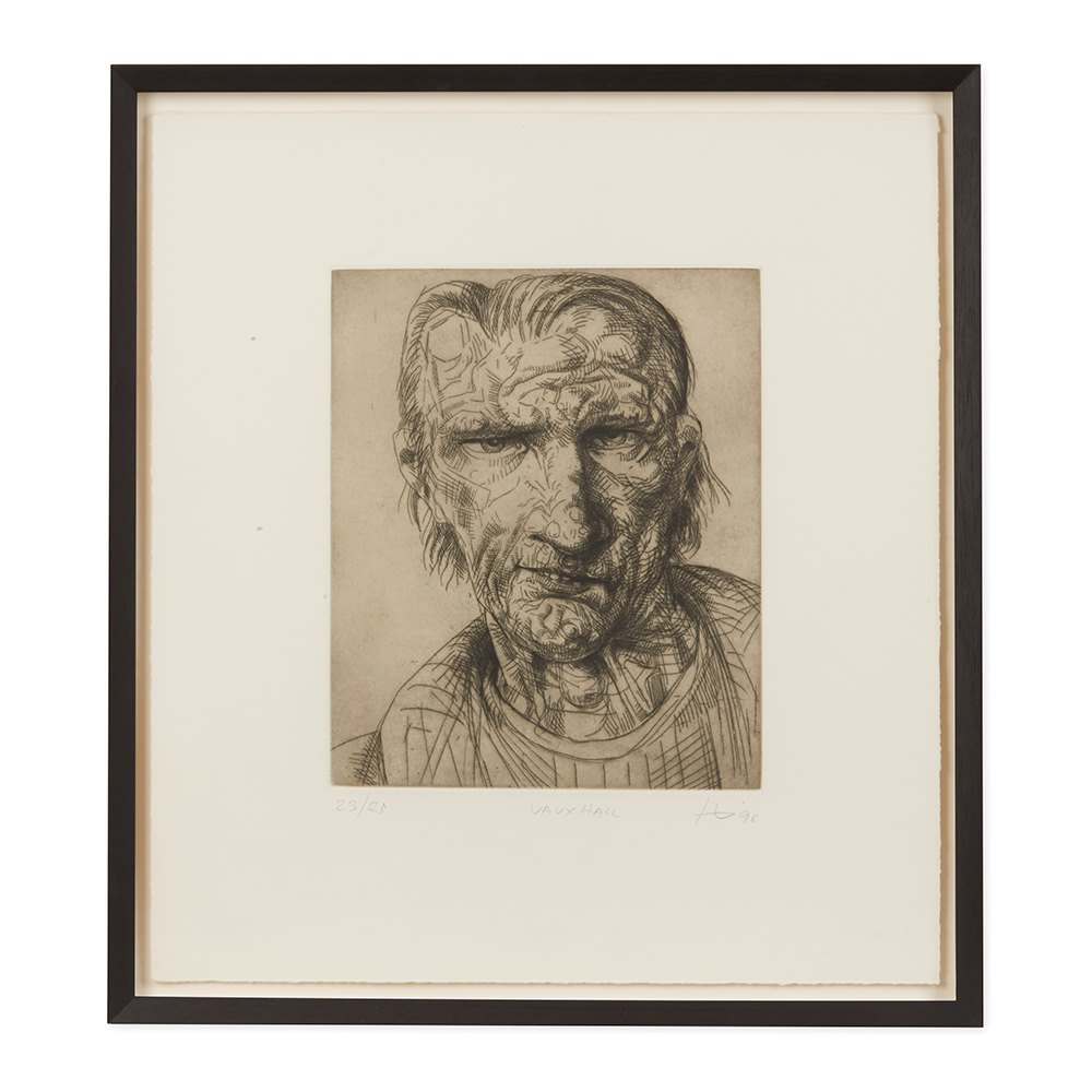 PETER HOWSON UNDERGROUND SERIES FRAMED VAUXHALL PRINT 1998 Dated 1998