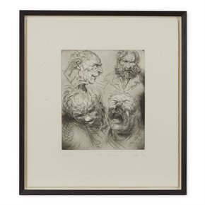 PETER HOWSON UNDERGROUND SERIES ALL SAINTS PRINT 1998