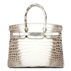 Hermès Himalaya Matte Niloticus Crocodile Leather Birkin 30cm