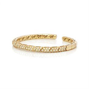 Mappin & Webb 18k Yellow Gold Fancy Yellow Diamond Cuff Bangle