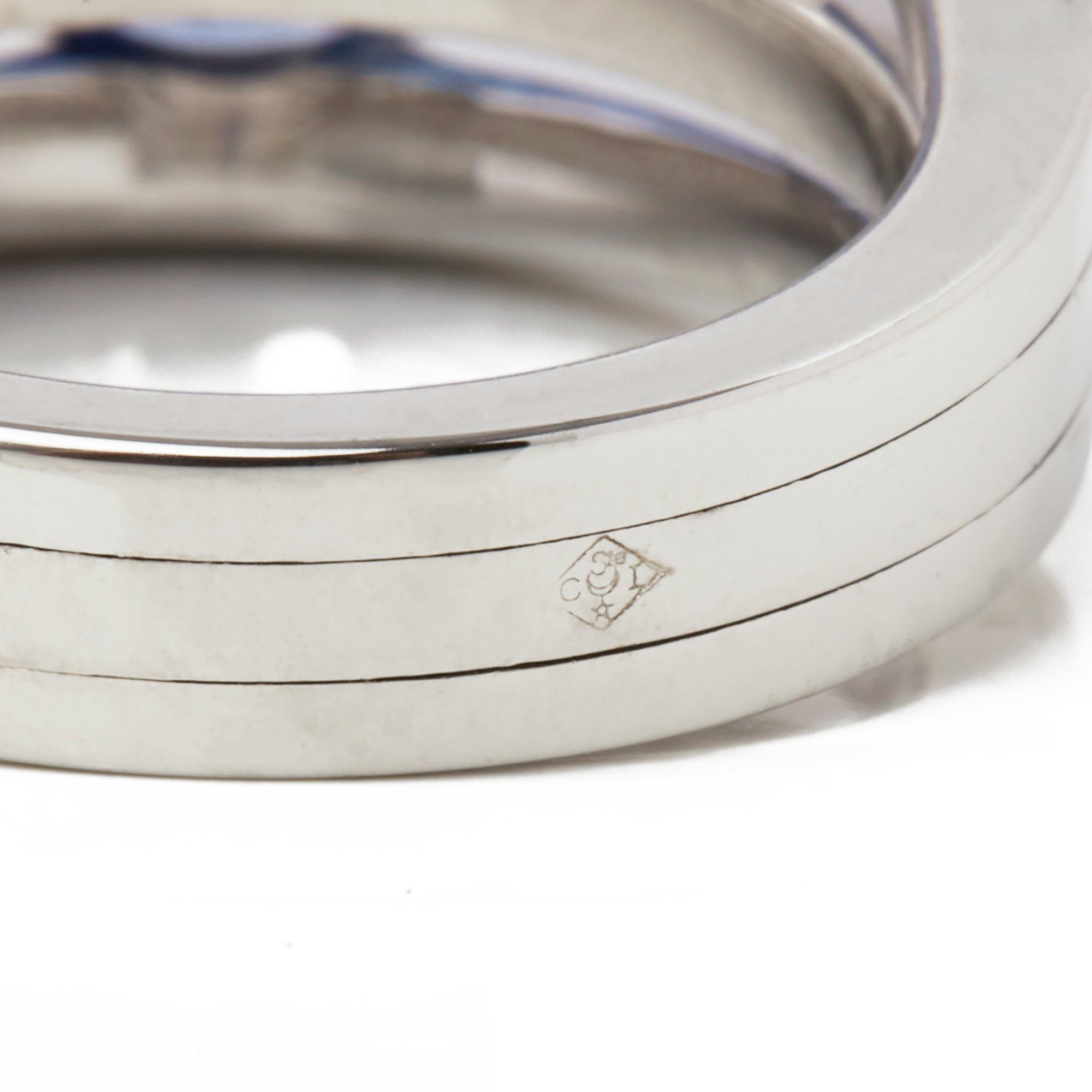Chaumet 18k White Gold Sapphire & Diamond Ring