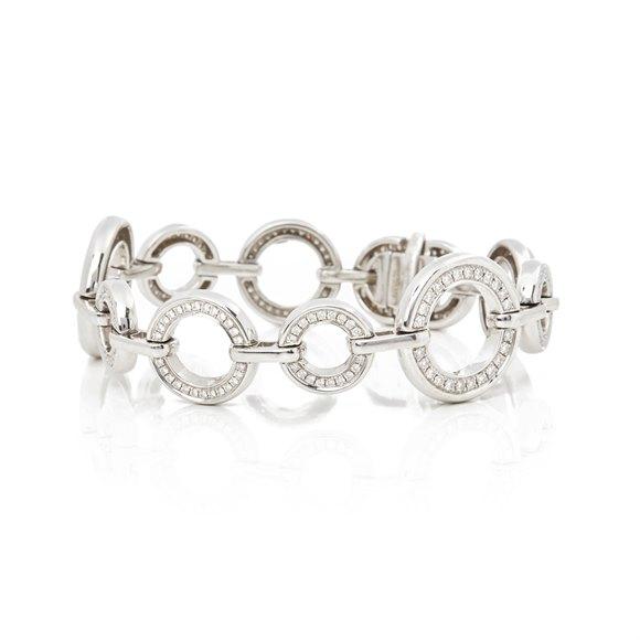 Boodles 18k White Gold Diamond Medium Roulette Bracelet
