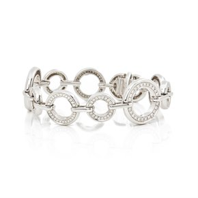 Boodles 18k White Gold Diamond Medium Roulette Bracelet
