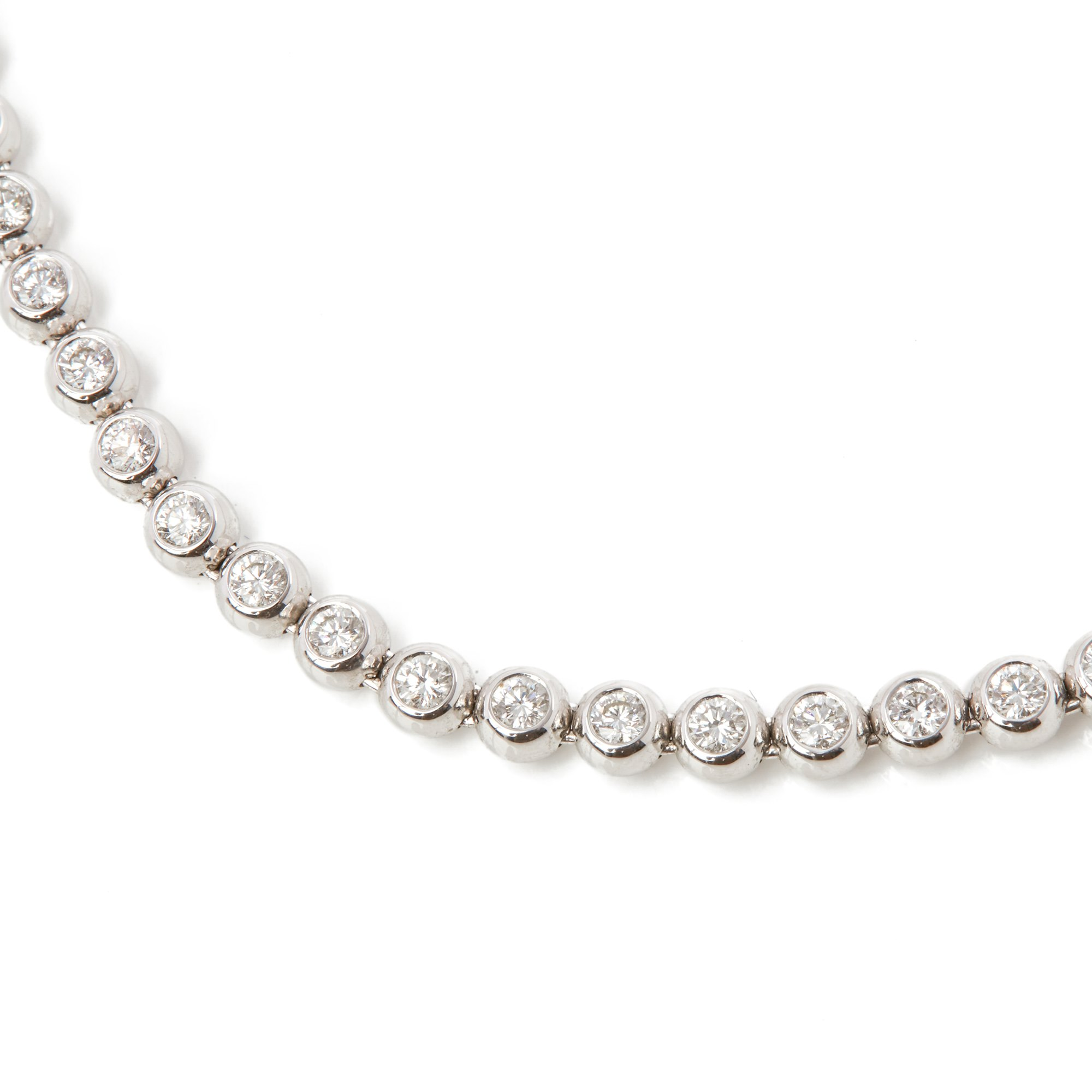Diamond 18k White Gold Beaded 4.50ct Diamond Necklace