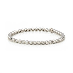 18k White Gold Beaded 2.00ct Diamond Bracelet