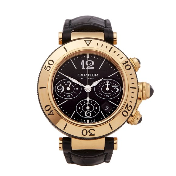 Cartier Pasha de Cartier Seatimer Chronograph 18k Yellow Gold - 3027