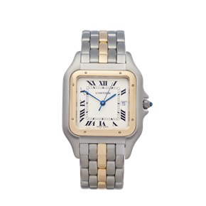 Cartier Panthère Single Row Stainless Steel & 18K Yellow Gold - 8395