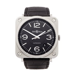 Bell & Ross BRS-92 Stainless Steel - BRS-92-BL-ST/SCR
