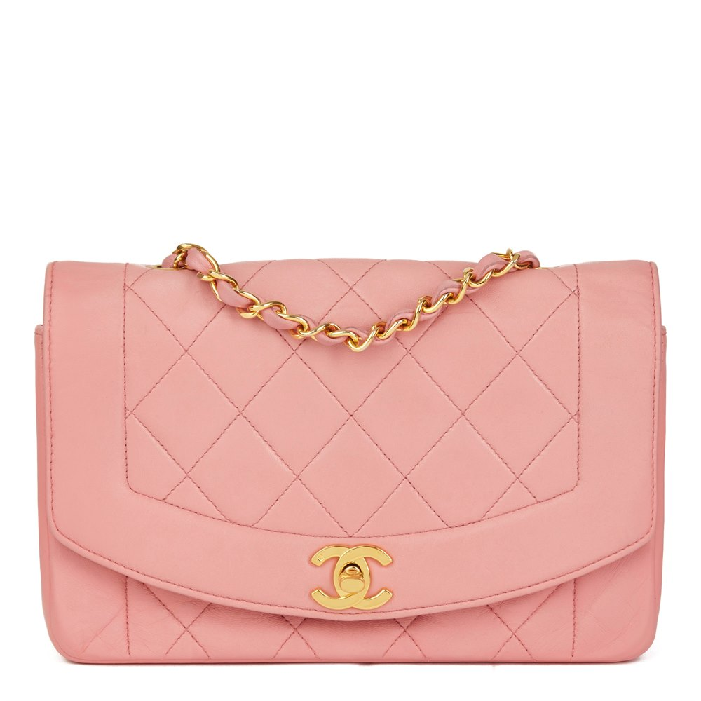 5caf5d388093 Chanel Pink Quilted Lambskin Vintage Small Diana Classic Single Flap Bag