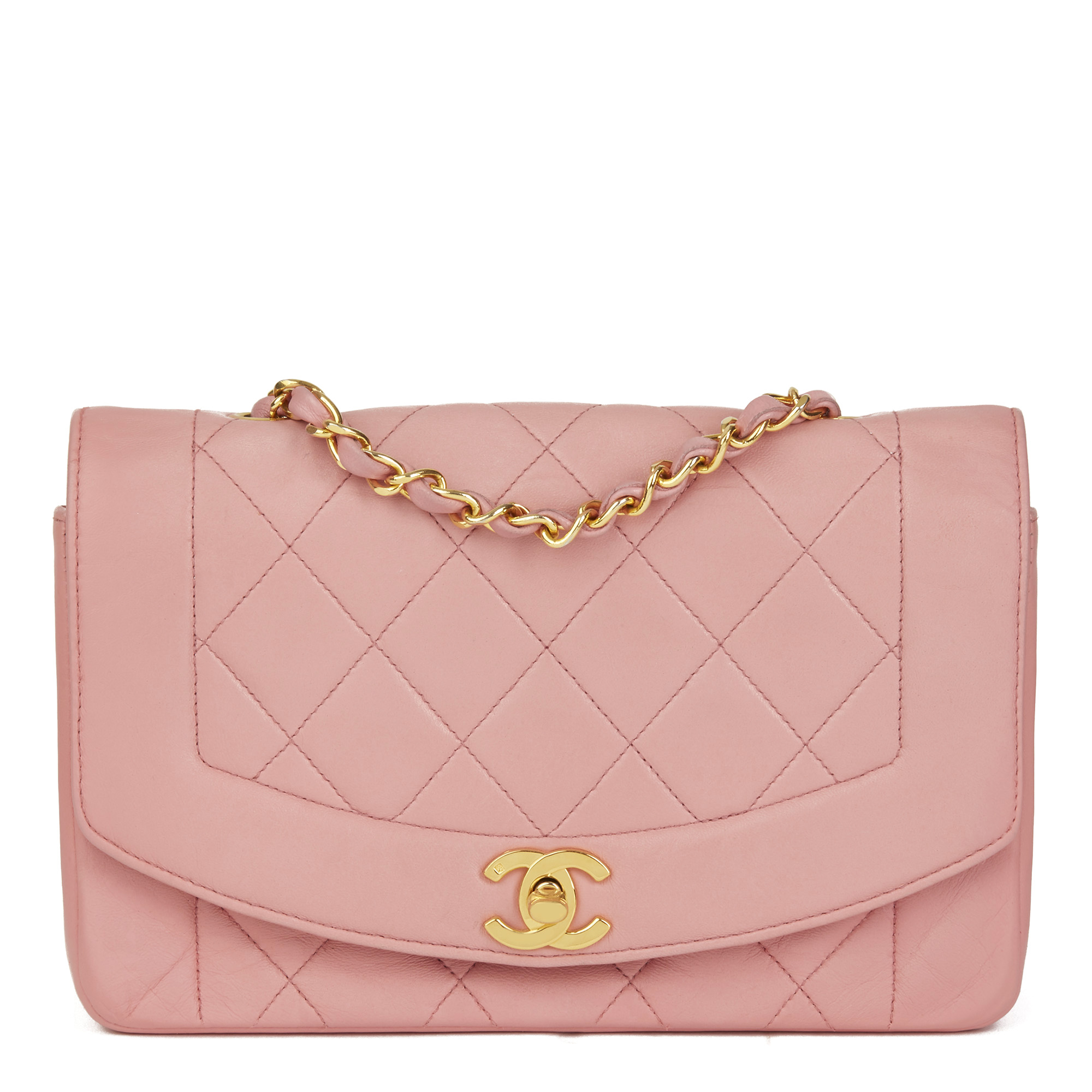 4dcb6d935cda Chanel Pink Quilted Lambskin Vintage Small Diana Classic Single Flap Bag