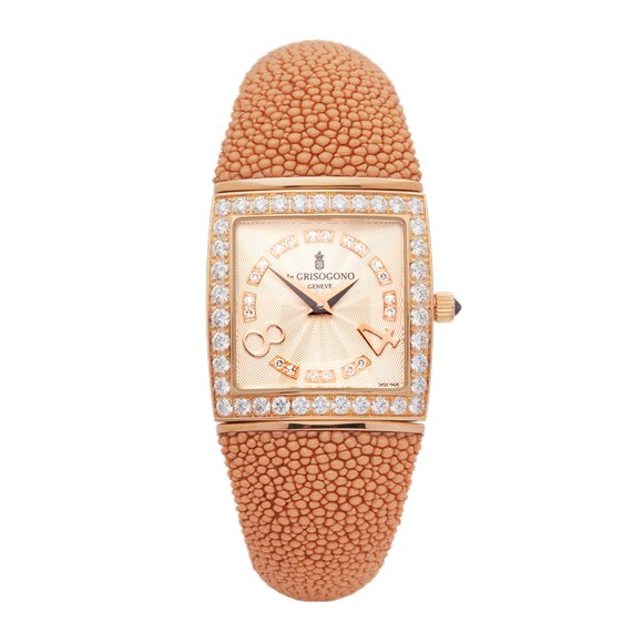 De Grisogono Piccolina Diamond 18k Rose Gold - S03M