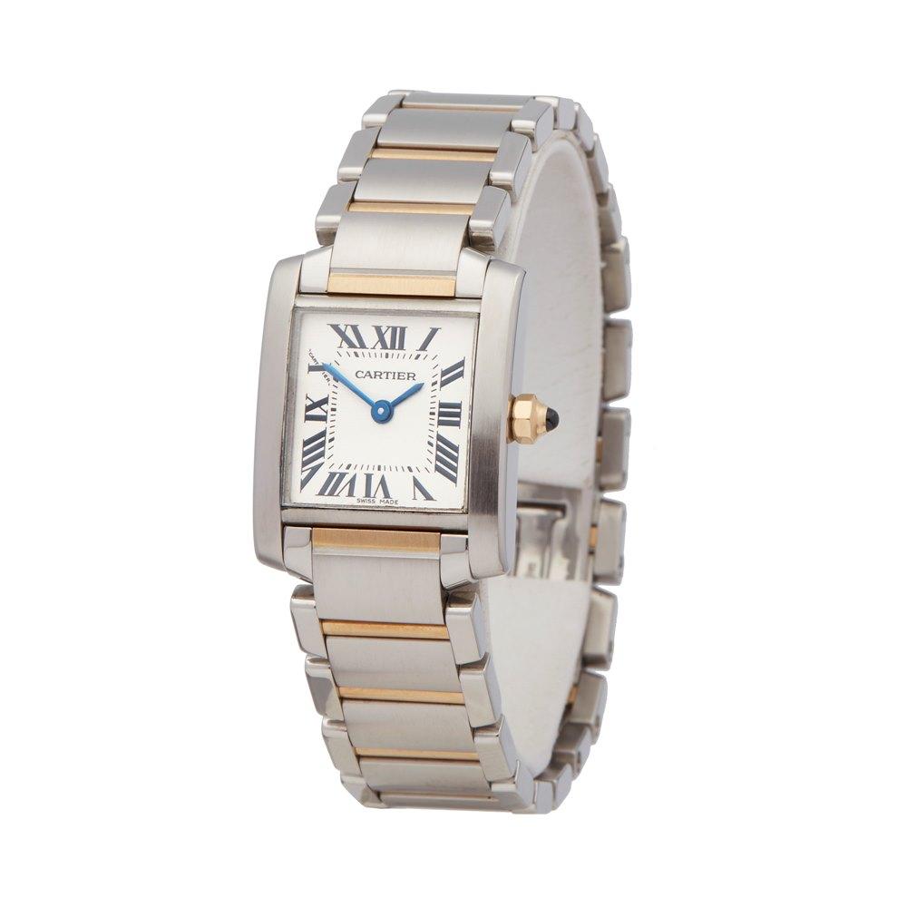 2d533b9545a1d Cartier Tank Francaise 2384 2000's W5720 | Second Hand Watches