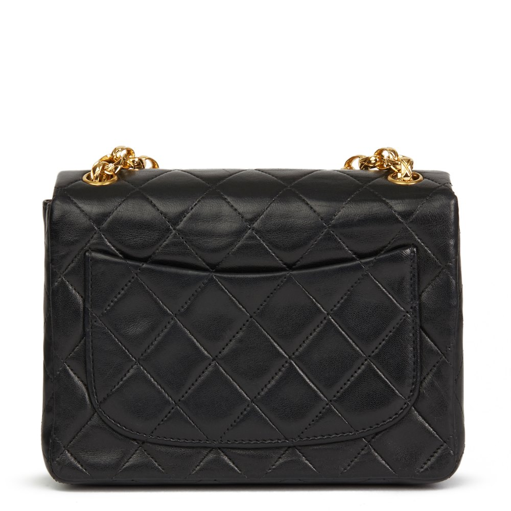 dc5a4b671e3 Chanel Black Quilted Lambskin Vintage Mini Flap Bag