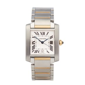 Cartier Tank Francaise Stainless Steel & 18K Yellow Gold - 2302