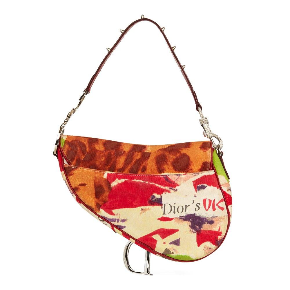 Christian Dior Multicolour Canvas Victim Saddle Bag