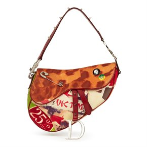 Christian Dior Multicolour Canvas Victim Saddle Bag