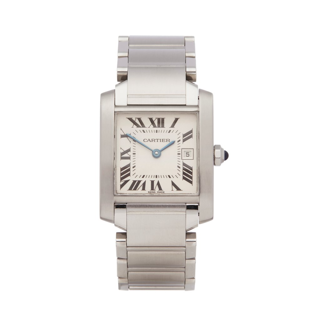 Cartier Tank Francaise Stainless Steel W51011Q3 or 2465