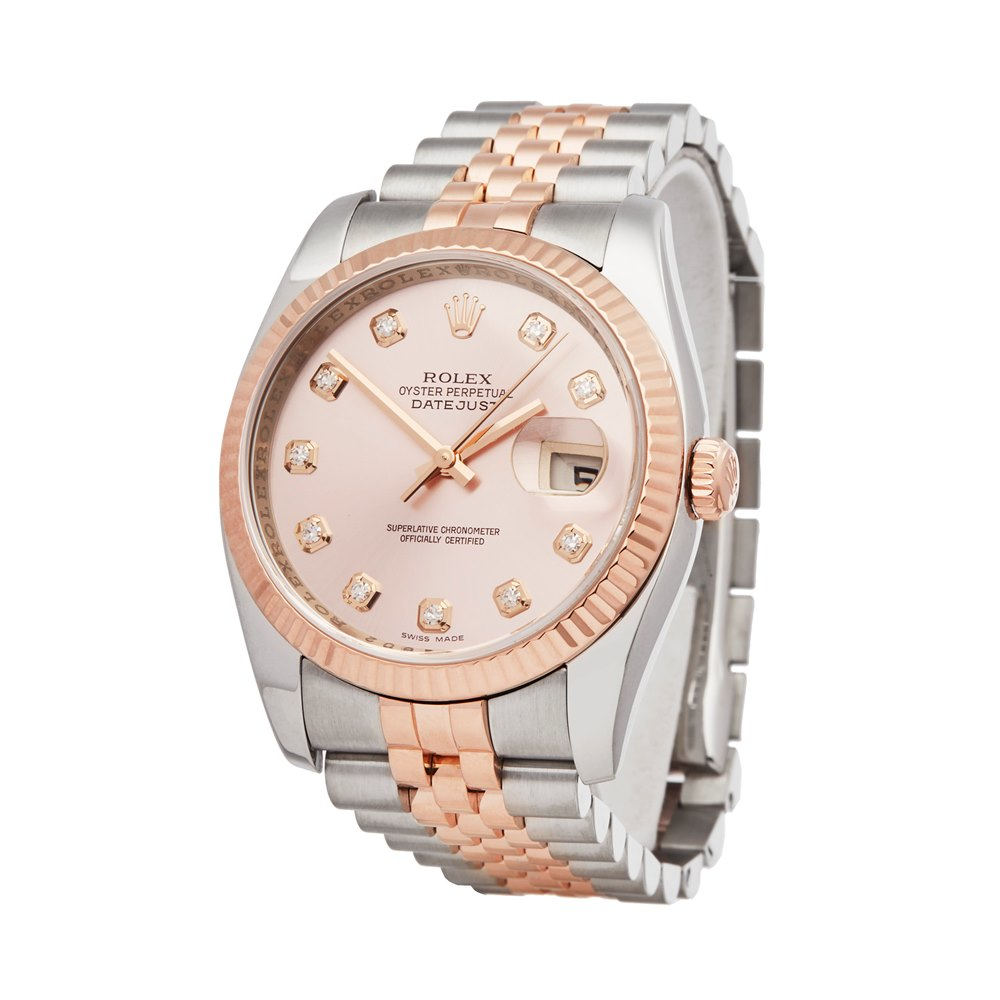 Rolex Datejust 36 Stainless Steel & 18K Rose Gold 116231