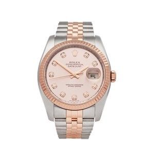 Rolex Datejust 36 Stainless Steel & 18K Rose Gold - 116231
