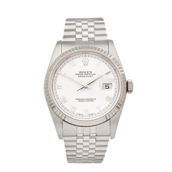 Rolex DateJust 36 Stainless Steel & White Gold - 16234