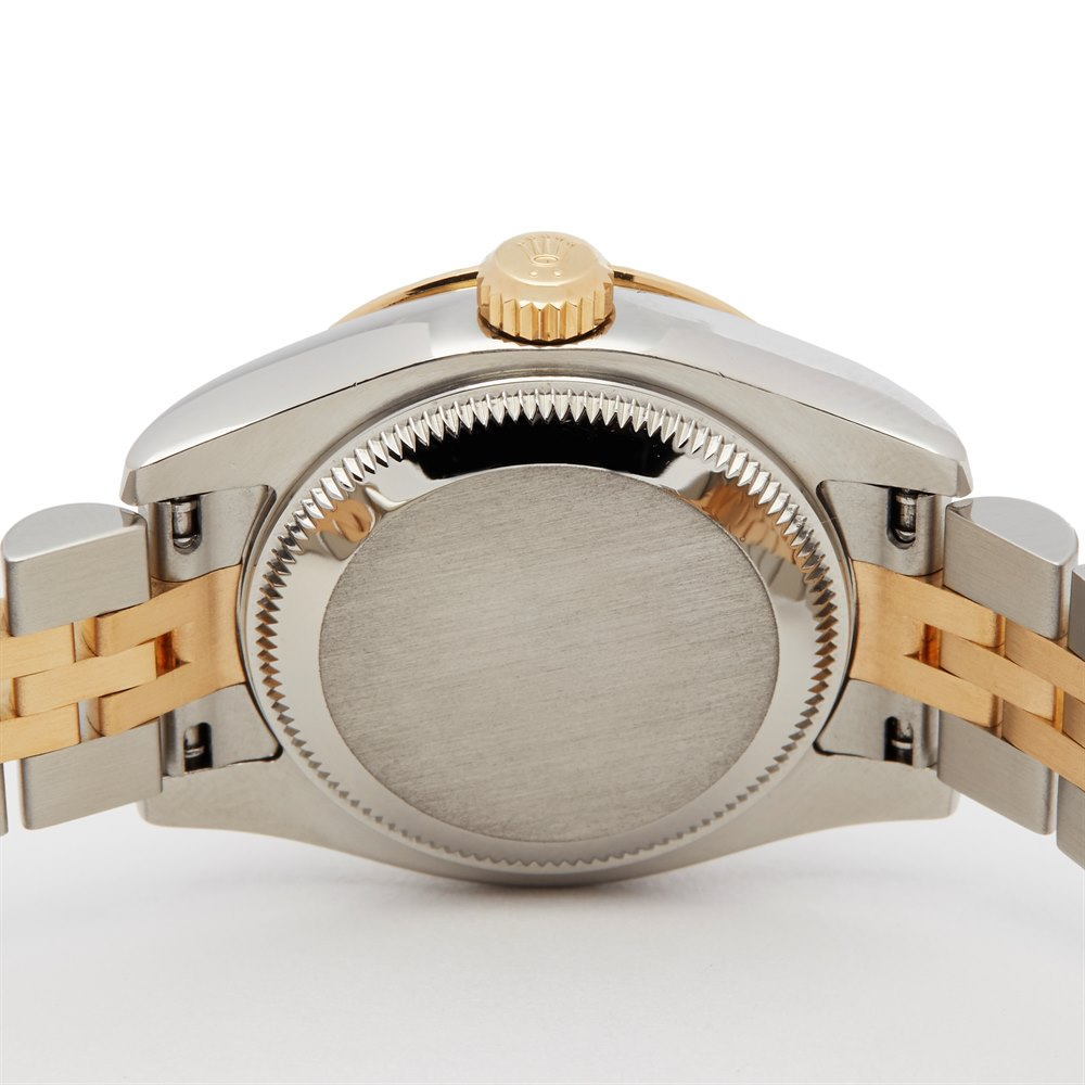 Rolex DateJust 26 Fluted Diamond Bezel Stainless Steel & Yellow Gold 179313