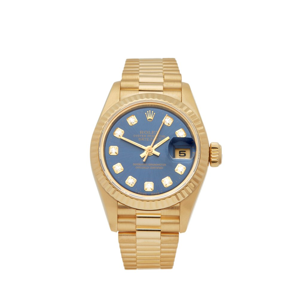 Rolex DateJust 26 Diamond 18k Yellow Gold 69178