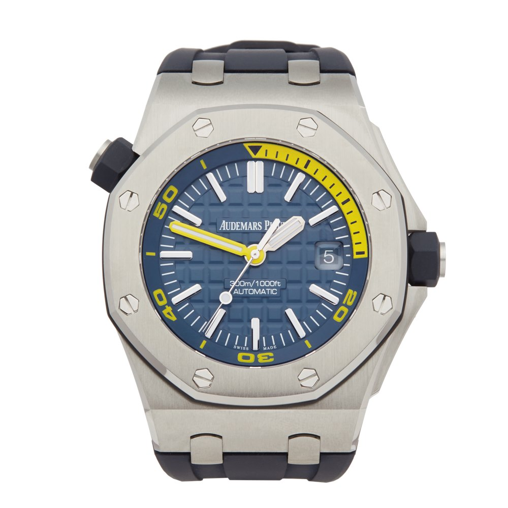 Audemars piguet royal oak offshore diver 15710st 2018 w5809 second hand watches for Royal oak offshore n7243