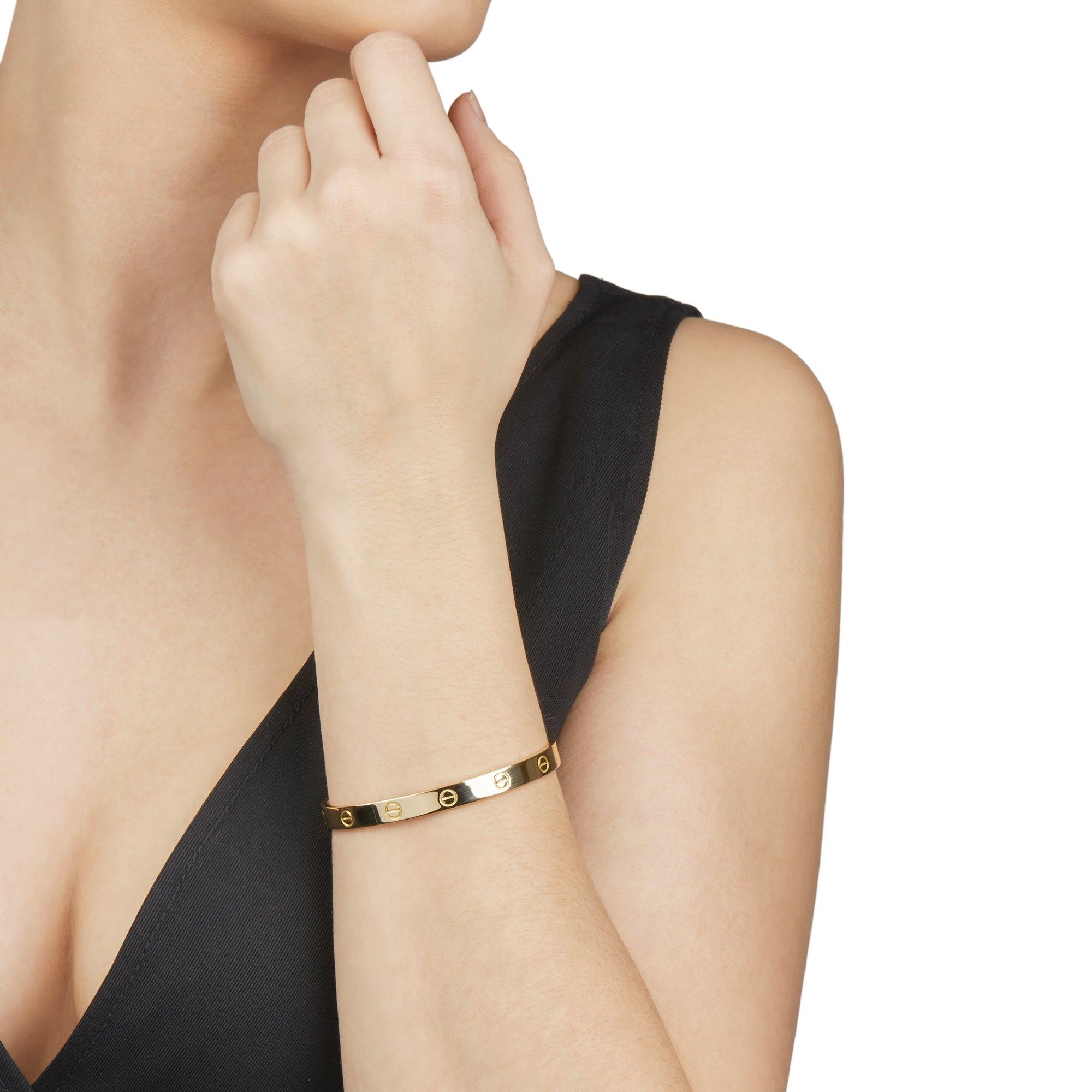 Cartier 18k Yellow Gold Open Love Cuff