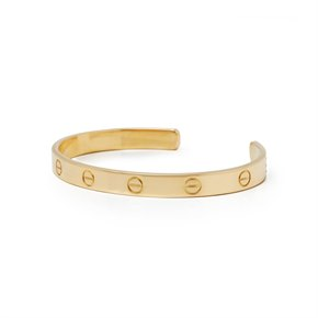 Cartier 18k Yellow Gold Open Love Cuff Bangle