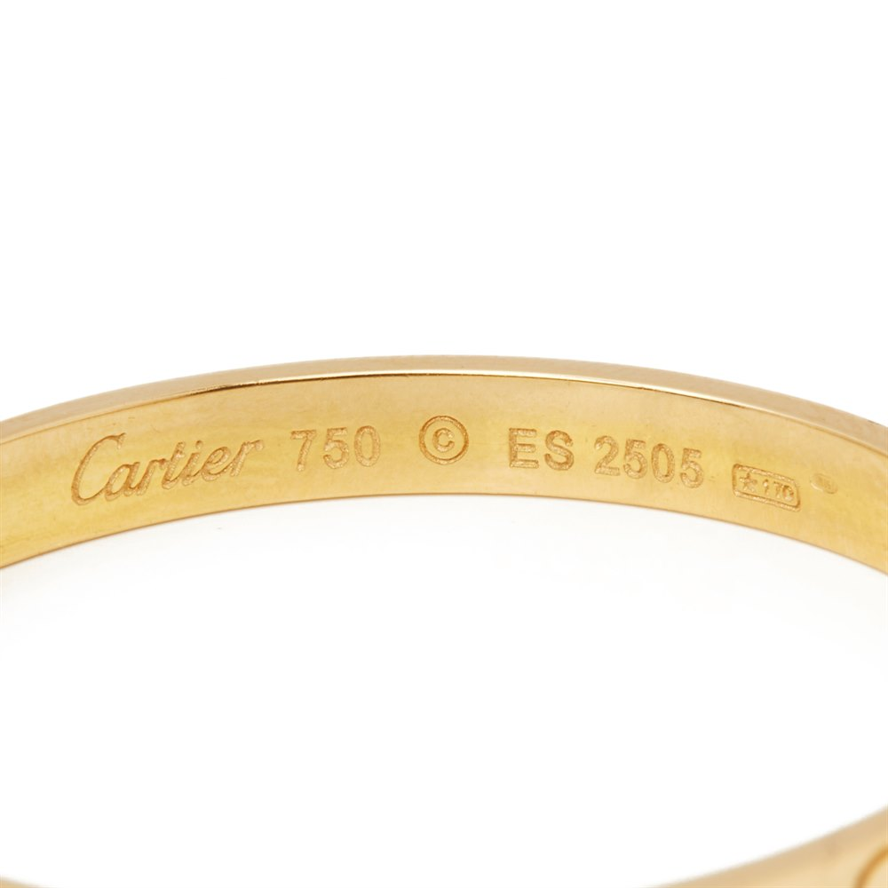 Cartier 18k Yellow Gold Love Hoop Earrings