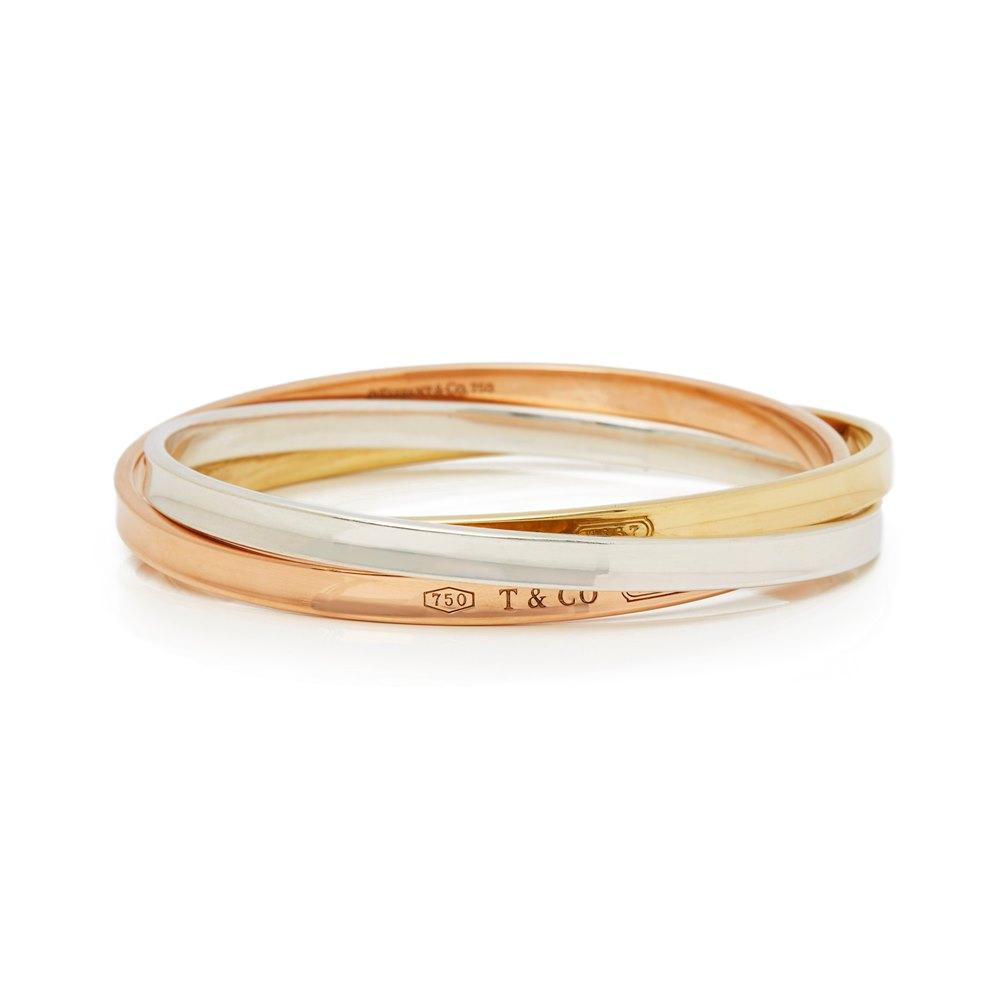 Tiffany & Co. 18k Yellow, Rose Gold & Silver 1837 Bracelet