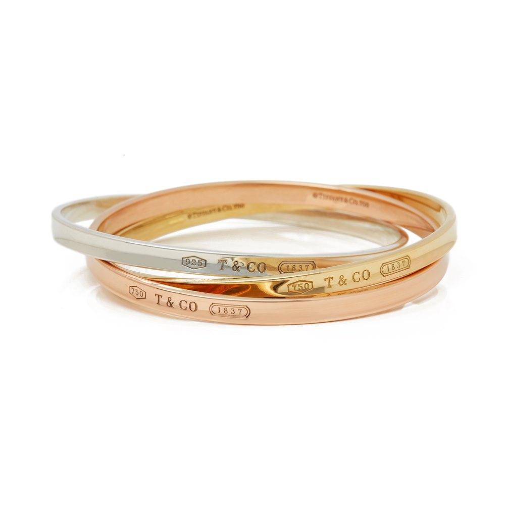 d12c251eb Tiffany & Co. 18k Yellow, Rose Gold & Silver 1837 Bracelet COM2060 ...