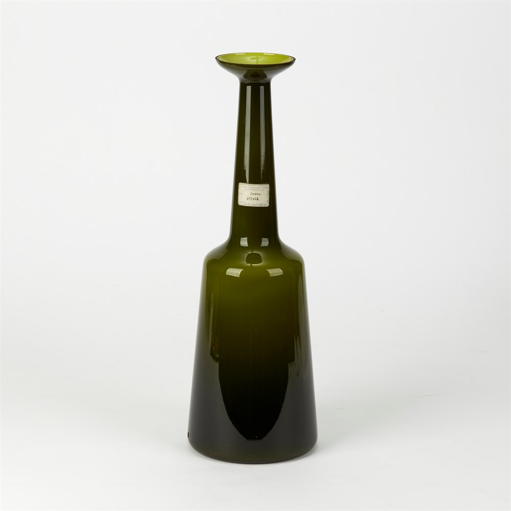 KASTRUP HOLMEGAARD RARE CASED GLASS LAMP BASE c.1960-70 Circa 1960-70