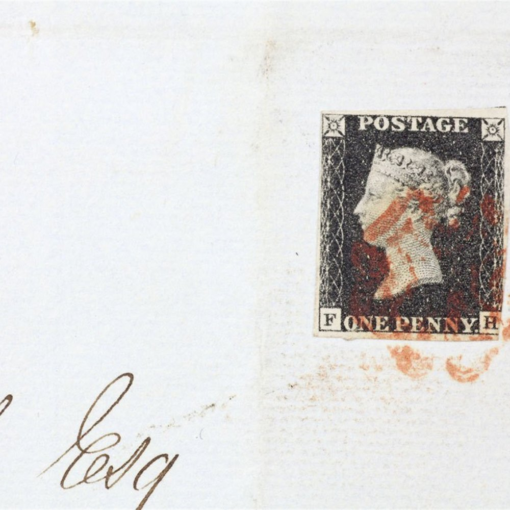Gb Qv One Penny Black On Original Cover Carlisle To Brampton 1841