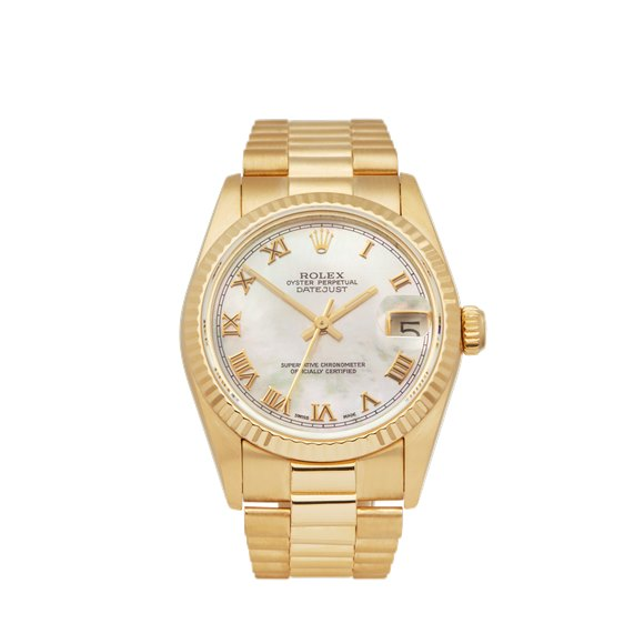 Rolex DateJust 31 Mother of Pearl 18k Yellow Gold - 68278