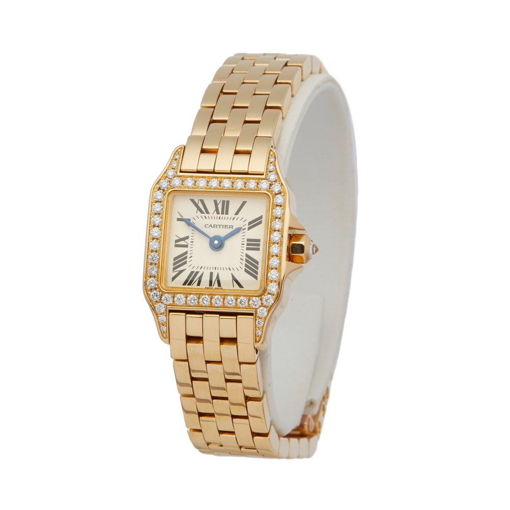 Cartier Santos Demoiselle Diamond 18K Yellow Gold WF9006Y7 or 2853
