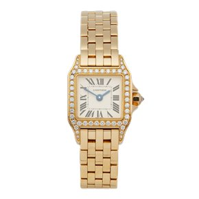 Cartier Santos Demoiselle Diamond 18K Yellow Gold - WF9006Y7 or 2853