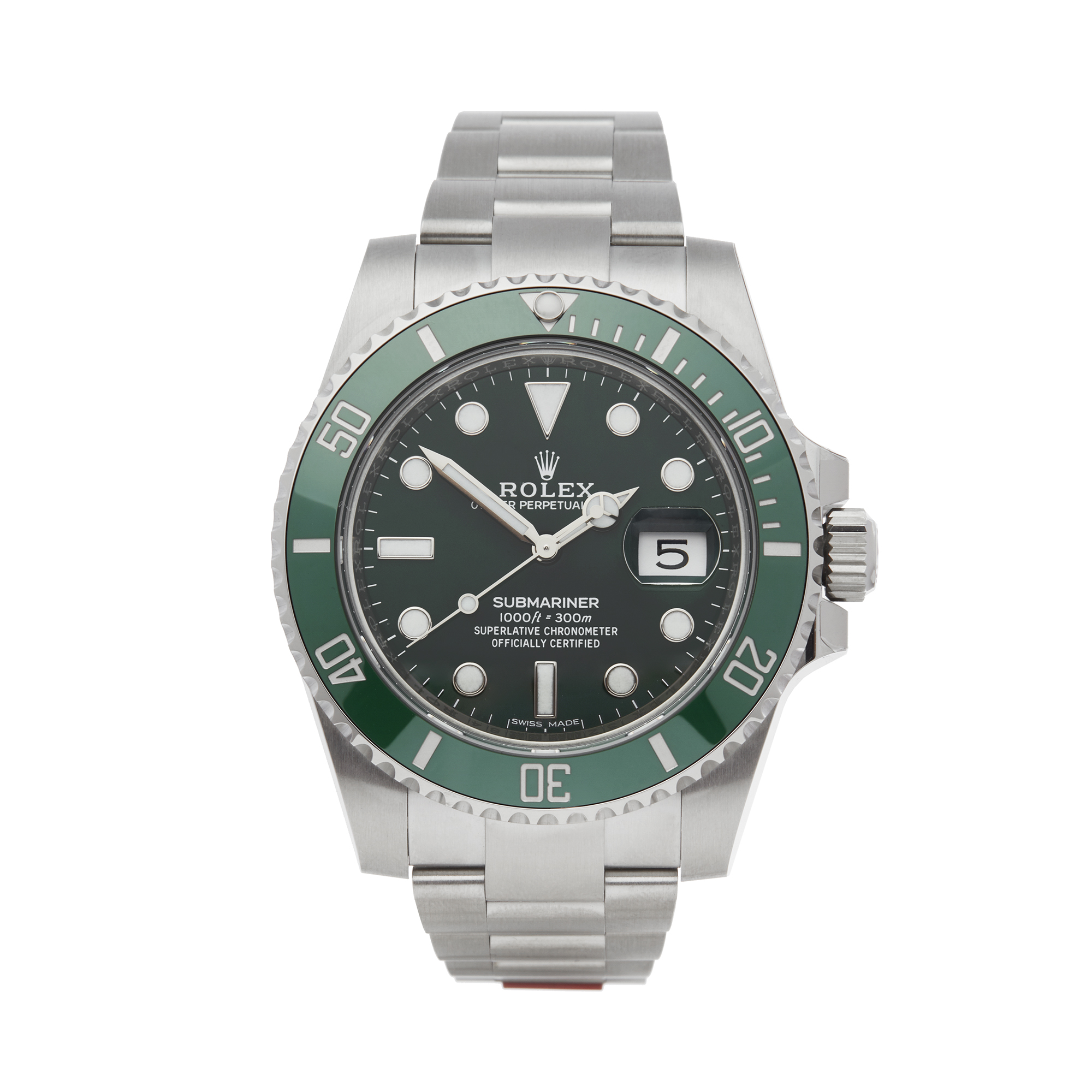 dc186a3c1e4 Detalhes sobre Rolex Submariner Hulk Relógio de aço inoxidável 116610LV  W5833- mostrar título no original