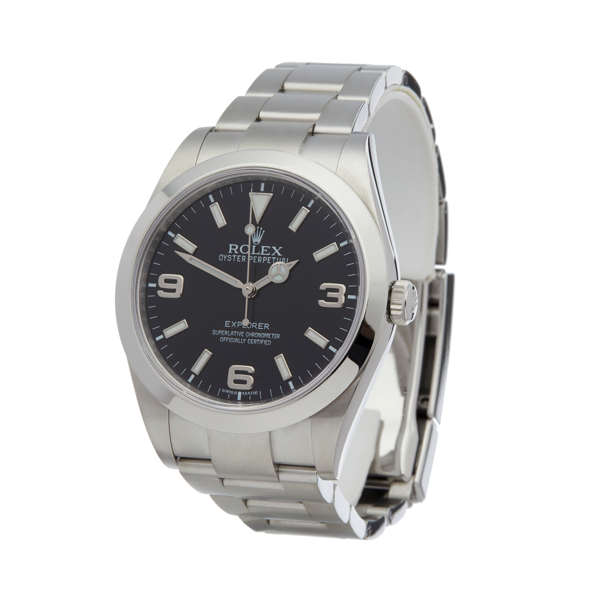 7d8e29bd6ce Details about ROLEX EXPLORER I STAINLESS STEEL WATCH 214270 W5847
