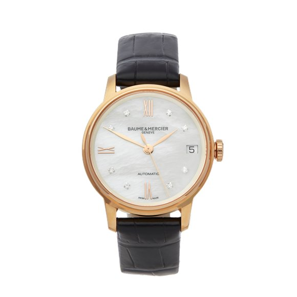 Baume & Mercier Classima Mother Of Pearl Diamond 18k Rose Gold - MOA10286